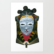 Black MASK Art Print