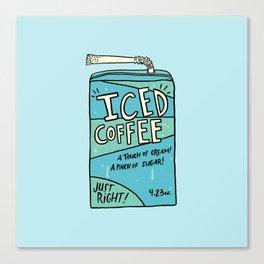 Iced Coffee Juicebox Canvas Print