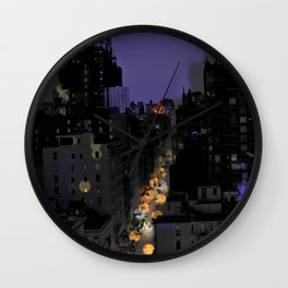 City Lights in NYC Wall Clock