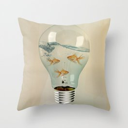 ideas and goldfish 03 Throw Pillow