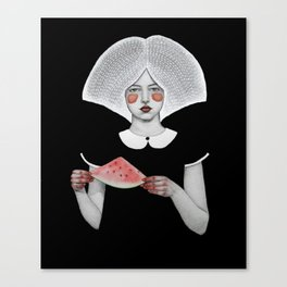 Zora in Black Canvas Print