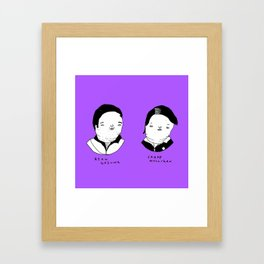 Drive characters Framed Art Print