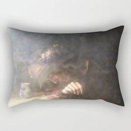 Crying Girl Rectangular Pillow