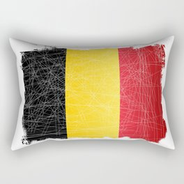 Belgium Flag Grunge Rectangular Pillow