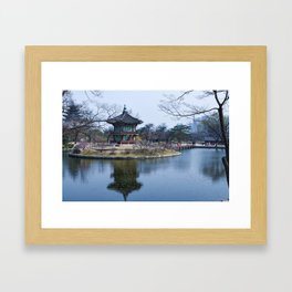Gyeongbokgung in Spring Framed Art Print