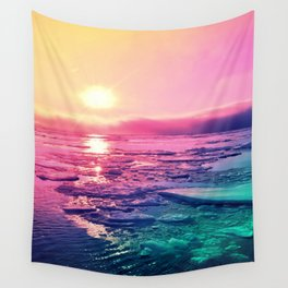 Pastel Sunset Waters Wall Tapestry