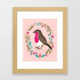 European Robin by Andrea Lauren  Framed Art Print