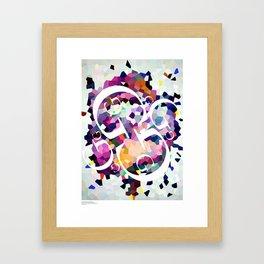 Perception Experiment 001 Garamond Framed Art Print