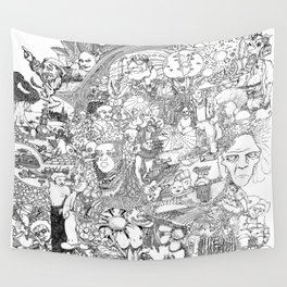 EPIC 25 Doodle art Wall Tapestry