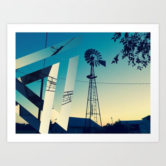 Sunset Farm Art Print