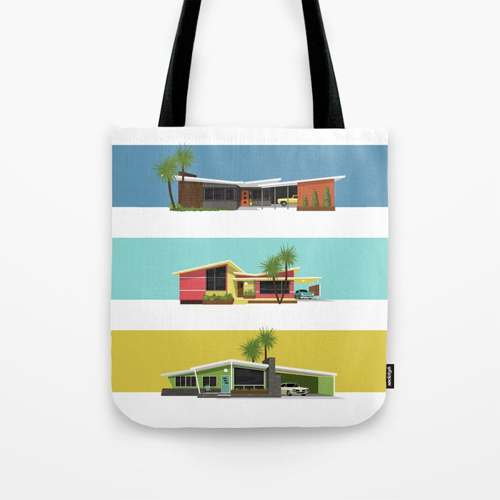 Mid Century Modern Houses 2 Tote Bag