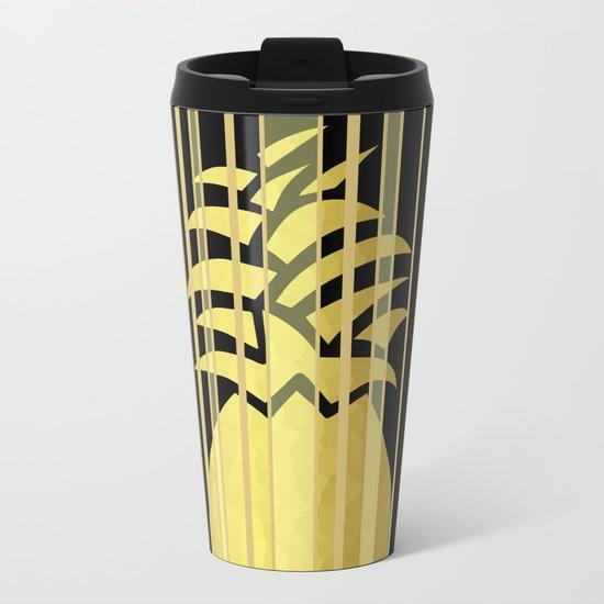 Pineapple Glam Metal Travel Mug