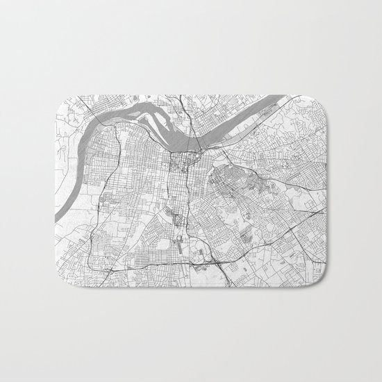 Louisville Map Line Bath Mat