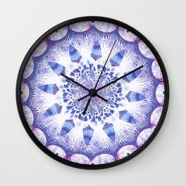 Mandala Flower Violet Art Wall Clock