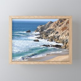 CALIFORNIA COAST - BLUE OCEAN Framed Mini Art Print