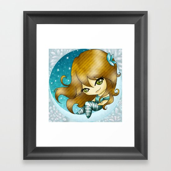 Up in the moom´s light  Framed Art Print