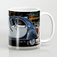 1975 Mugs featuring Bebe You Can Drive My Car by oneofacard