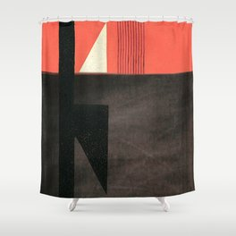 Solitaire du Figaro (red) Shower Curtain
