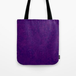 Clockwork PURPLE DREAM / Cogs and clockwork parts lineart pattern Tote Bag