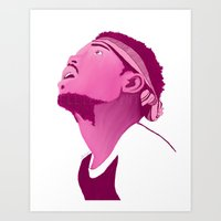 chance the rapper Art Prints featuring Chance The Rapper by Ellie Daintree