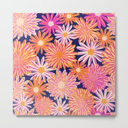 Daisy And Aster Flowers Metal Print