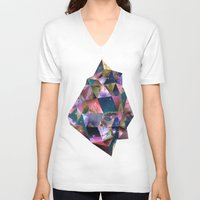 gem V-neck T-shirts featuring Space Gem by launa