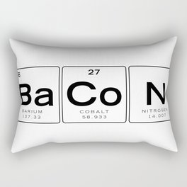 The Chemistry of Bacon, Funny Nerdy Periodic Table Rectangular Pillow