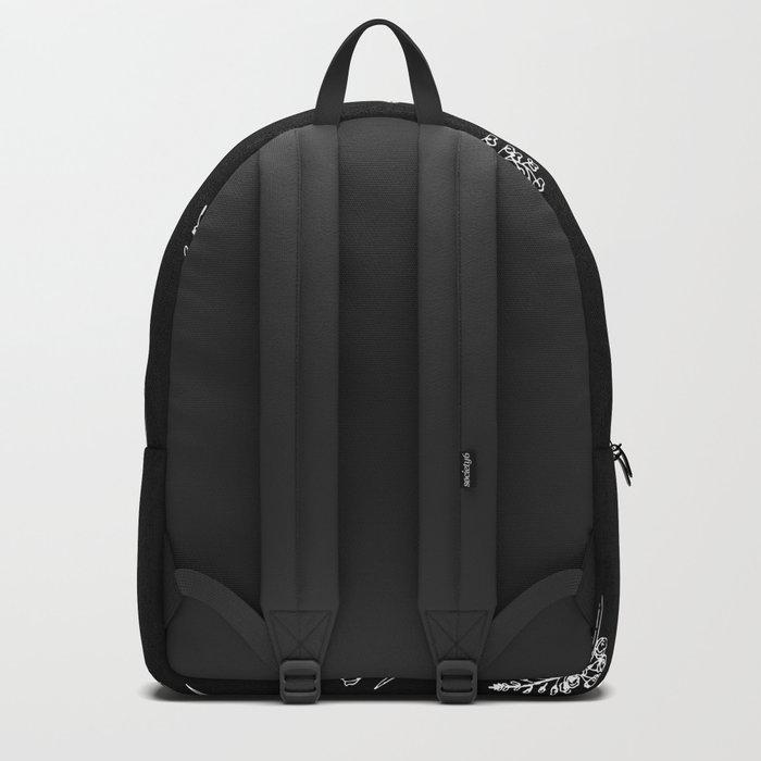 Black wildflowes Big Backpack