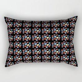 Bettas × 100_Black Base Rectangular Pillow