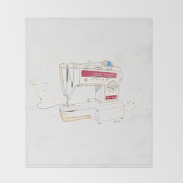 Vintage Singer Stylus 833 Sewing Machine Throw Blanket