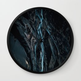 Abstract River in Iceland - Landscape Photography Wall Clock