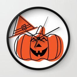 Silly Pumpkin Wall Clock