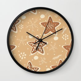 Winter Cookies Wall Clock