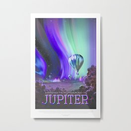 NASA Visions of the Future - Experience the Mighty Auroras of Jupiter Metal Print