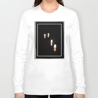 lanterns Long Sleeve T-shirts featuring Lanterns of Healing (Japan) by Julie Maxwell