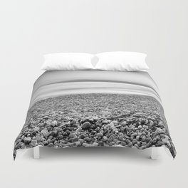 """Little stones at the silver sea"" Duvet Cover"