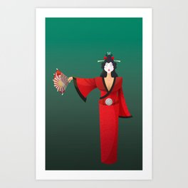 Vector Geisha (Turning Japanese) Art Print