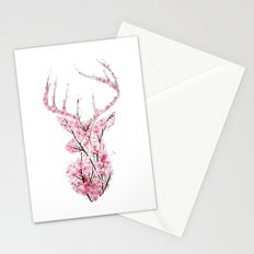 Cherry Blossom Deer Stationery Cards
