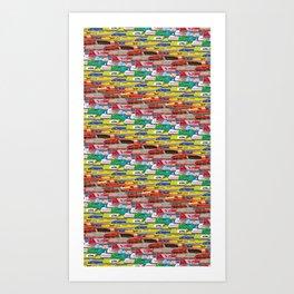 Locomotives - Rainbow by Railcolor Art Print
