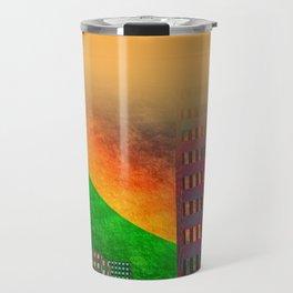 digicity orange curtain Travel Mug