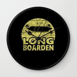 Longboarder Longboard Longboarden Gift Wall Clock
