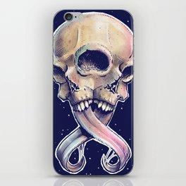 Triple eyed skull iPhone Skin