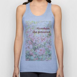 She Persisted - Cherry Blossoms Unisex Tank Top