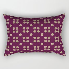 wine and copper dots Rectangular Pillow