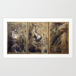 Antoine Wiertz - Thoughts and Visions of a Severed Head Art Print