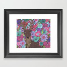The Wise Stag Framed Art Print