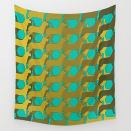 """Dog Eat Dog Pattern"" Wall Tapestry"