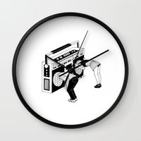 radiohead Wall Clocks featuring Radiohead by Henn Kim