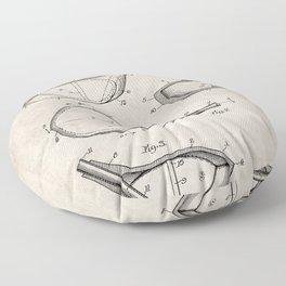 Golf Driver Patent - Golf Art - Antique Floor Pillow