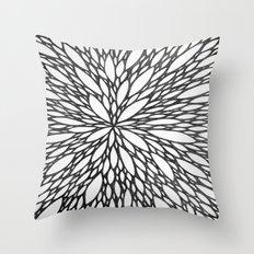Chrysanthemum Burst Throw Pillow